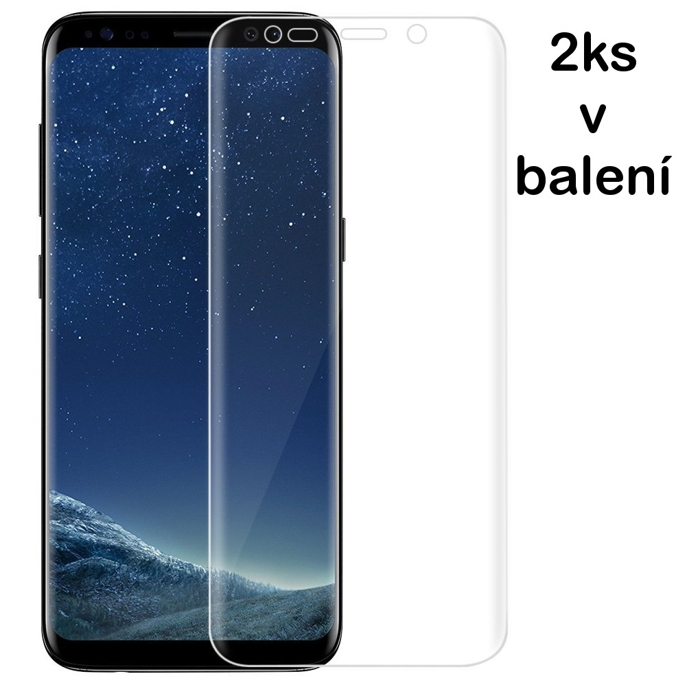 3D fólie na celý displej CLEAR - Galaxy S8 Plus (S8+), set 2ks